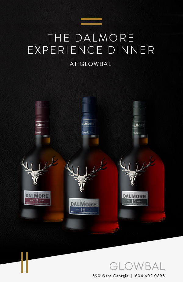 THE DALMORE EXPERIENCE DINNER AT GLOWBAL